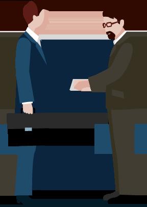 握手する士業イラスト